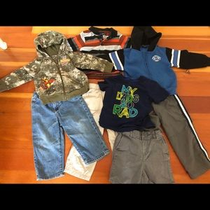 Lot of boys size 2/2T clothing